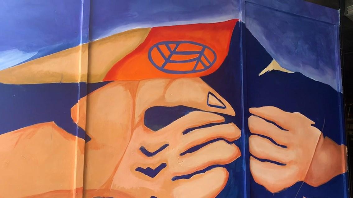 Euston mural close up 2