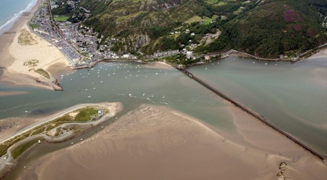 Barmouth Viaduct drone