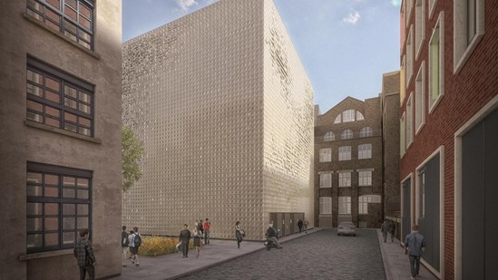 Green light for HS2's Euston 'sugar cube': HS2 LU substation and vent shaft design CGI 1