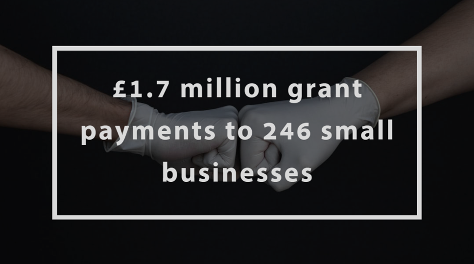 Council outlines £1.7 million grant payments to 246 small businesses: Discretionary Business Grants Scheme
