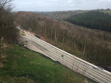 Eden Brows landslip site with repairs nearly completed