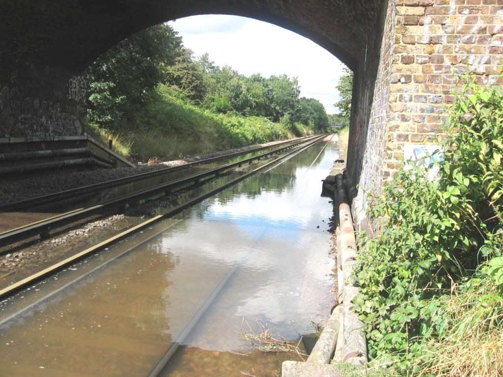 Passengers reminded of drop-in events to find out more about railway upgrade between Fulwell and Shepperton: Fulwell flooding - Image 2