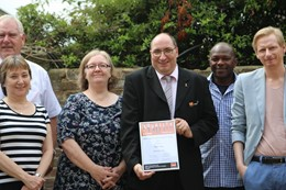 Paul Sony, pictured centre, alongside some members of the regional GMB committee : Paul Sony, pictured centre, alongside some members of the regional GMB committee