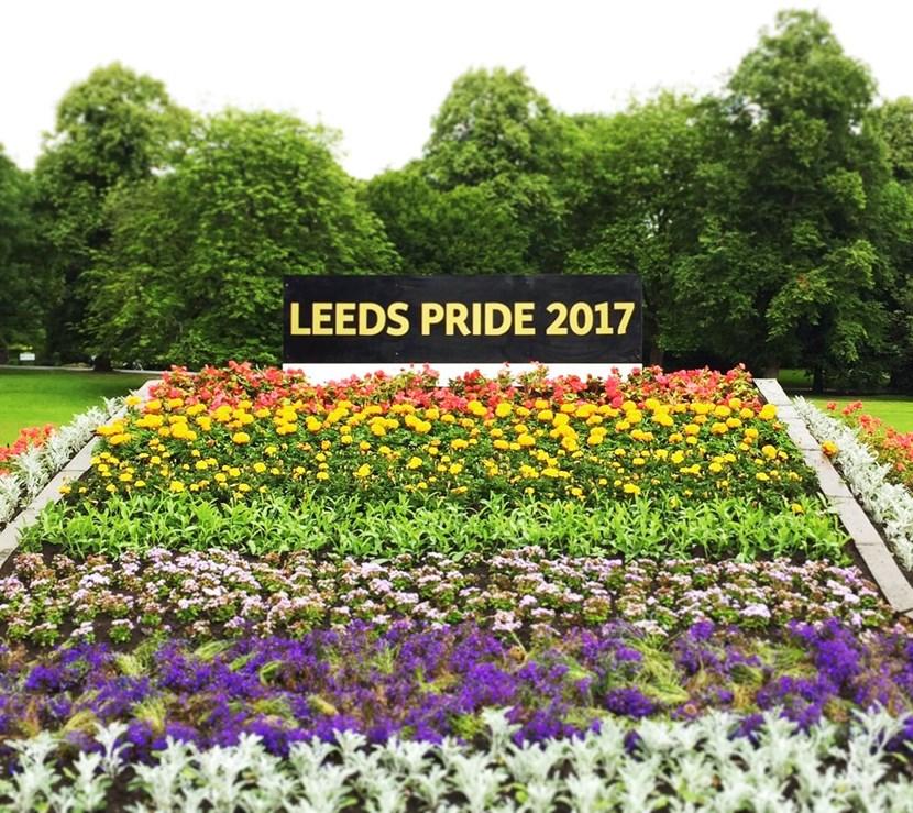 Leeds takes Pride in its new LGBT+ flowerbed at Roundhay Park: leedspride3.jpg