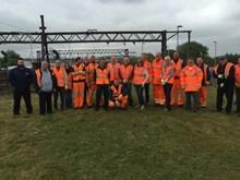 Railway volunteers help Friends of Guide Bridge Memorial Garden: Guide Bridge volunteer team