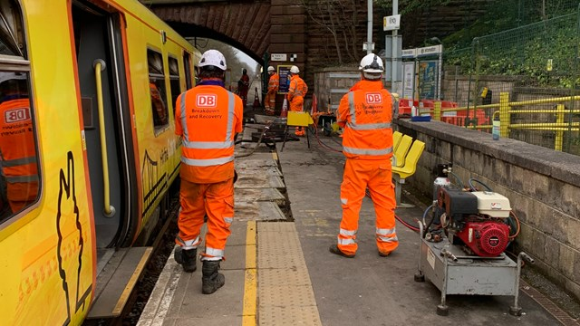 Latest on repair plan to get Kirkby station reopen for passengers: Recovery team getting derailed Merseyrail train back onto the track at Kirkby station