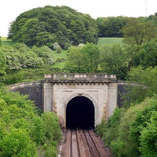 SWINDON COMES FACE TO FACE WITH BRUNEL: Box Tunnel, near Bath
