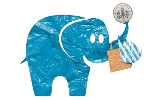 Carrier Bag Charges Campaign Logo  elephant