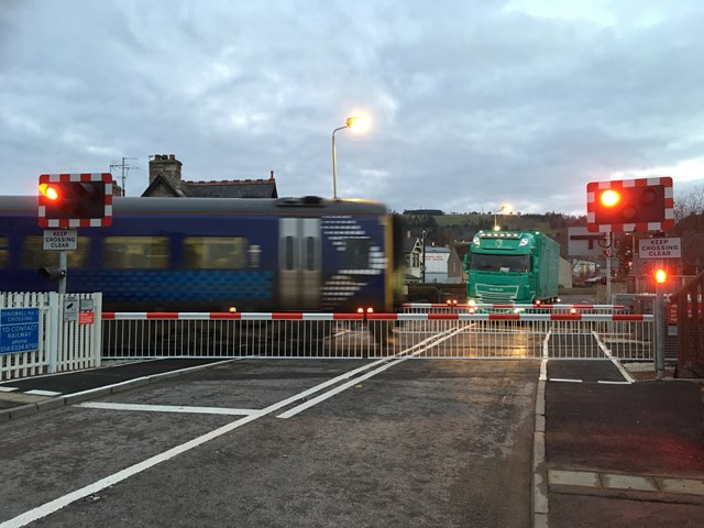 Dingwall Level Crossing upgrades delivered: Dingwall number one  Level crossing