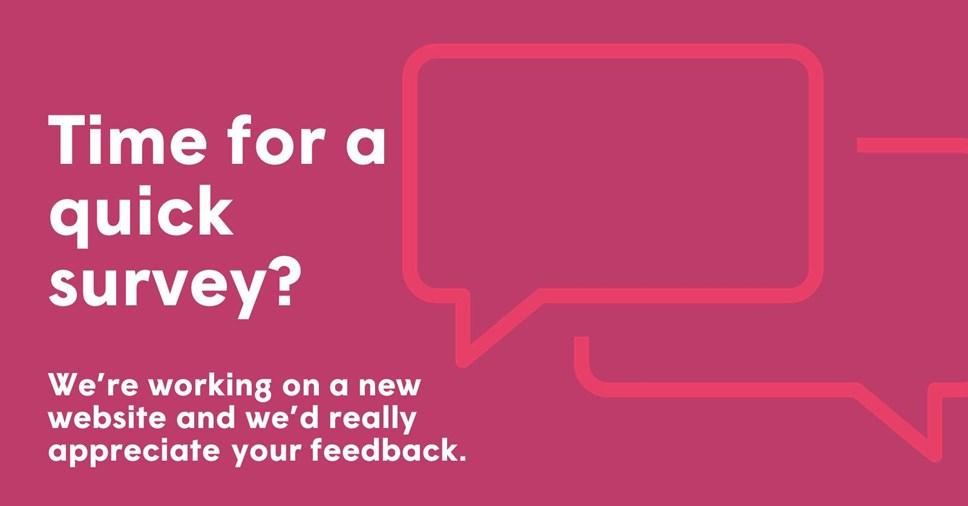 Help us create our new website: website survey
