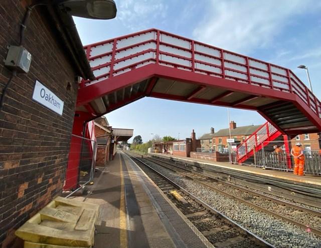 Oakham station footbridge