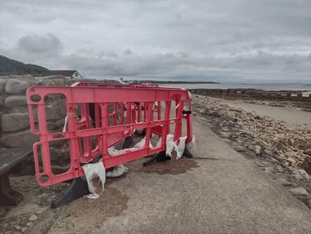 Lossiemouth West beach footpath works