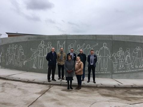 Bullring mural unveiling in Liverpool
