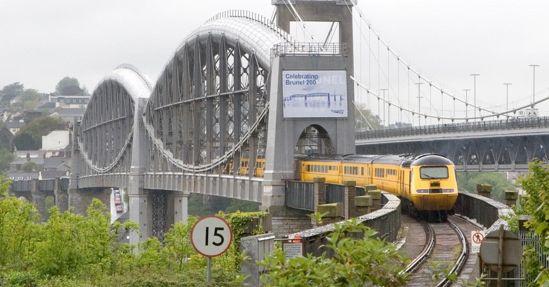 BATH PASSENGERS COME FACE TO FACE WITH BRUNEL: Royal Albert Bridge - unveiling Brunel's name