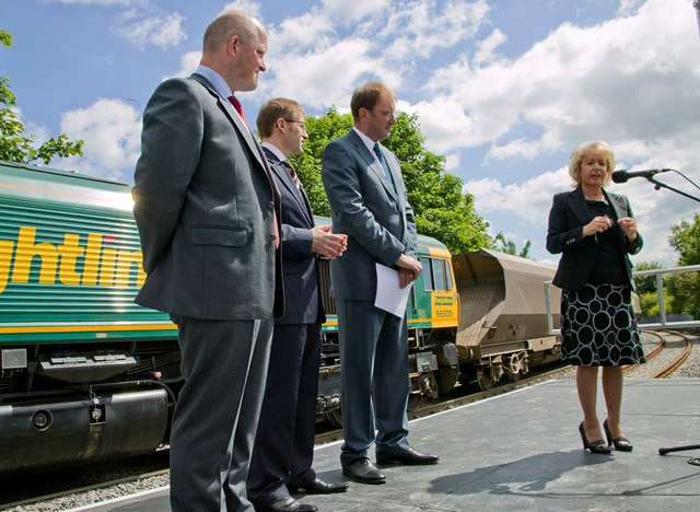 Minister of State, Rosie Winterton, at Hull Dock