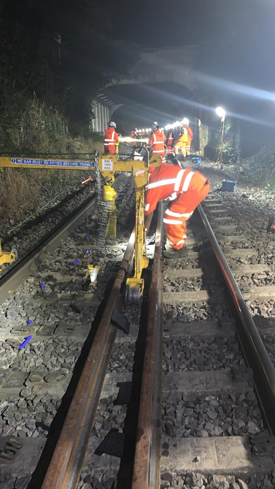 Track works improve reliability for freight and passengers in Felixstowe: Felixstowe track work