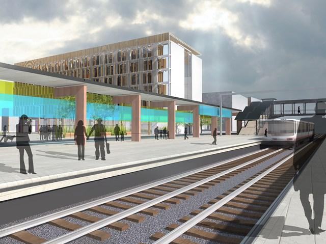 Artist's impression - planned station at Kirkstall Forge
