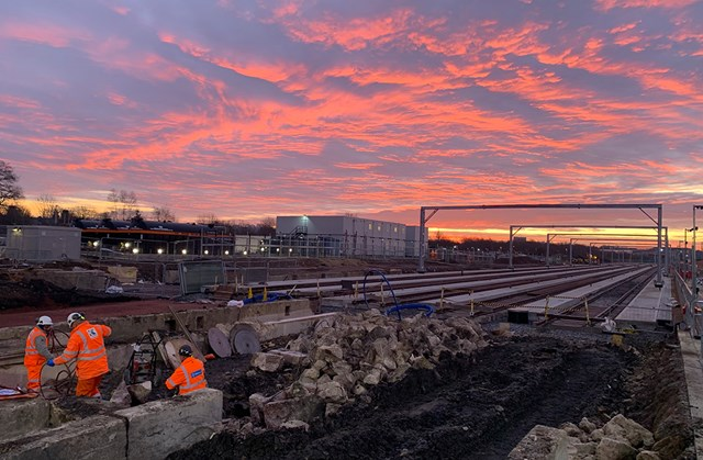 Eggcellent preparation for new Midland Main Line station takes place over Easter: Brent Cross sidings
