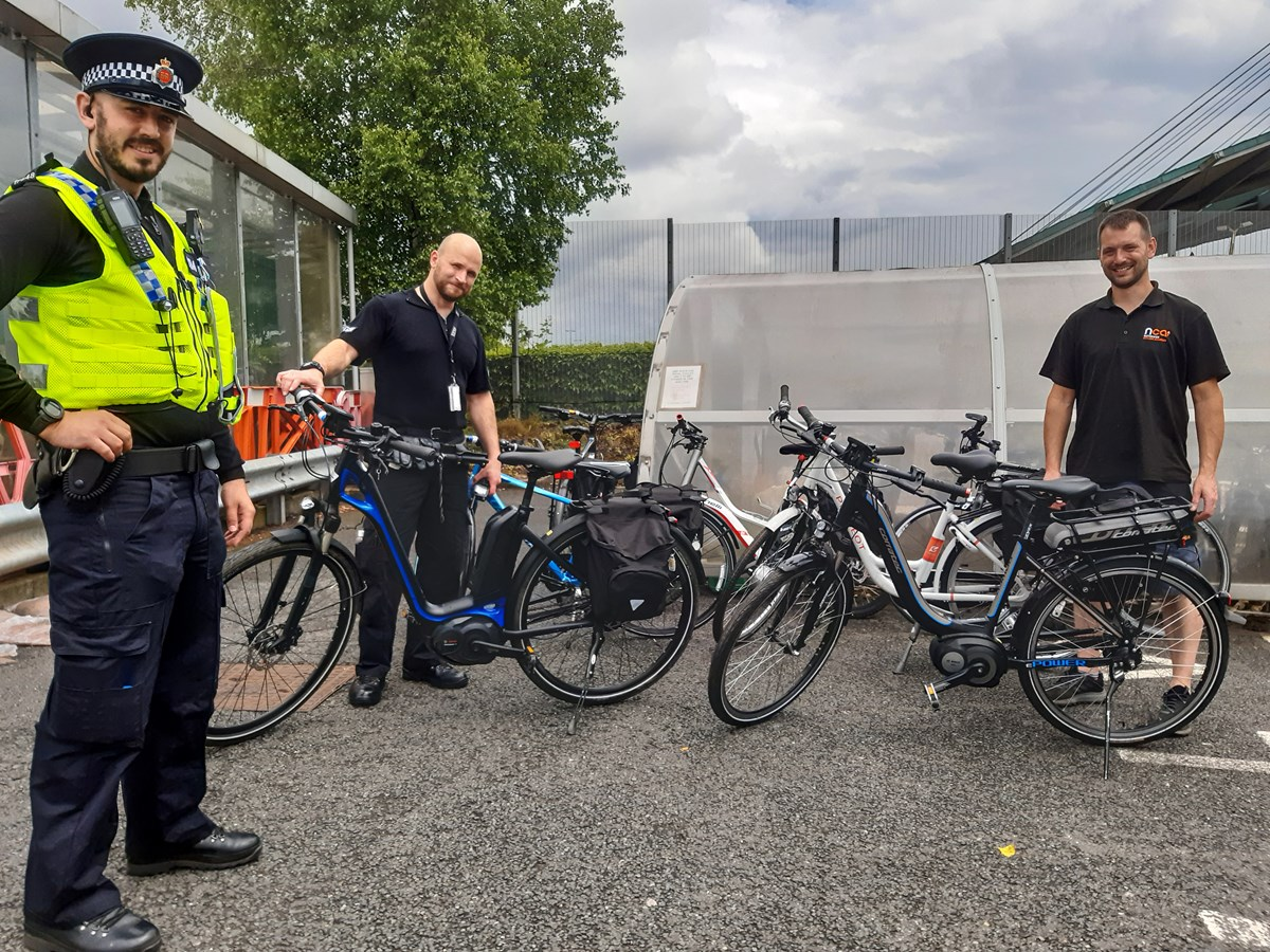 GMP Transport Unit with donated bikes