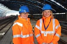 Janice Crawford and Becky Lumlock Waterloo International Terminal