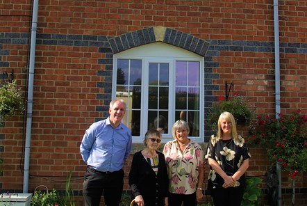 Keith Chaplin, housing strategy and enabling officer for the council, Alison Evans, DIana Thomas and Cllr Claire Vaughan, cabinet member for housing-2