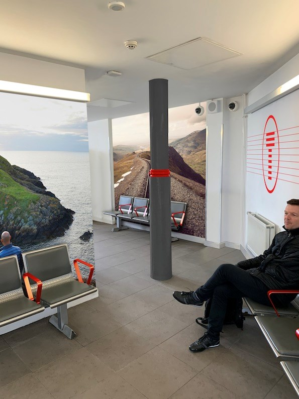Artist Impression of waiting room in Swansea