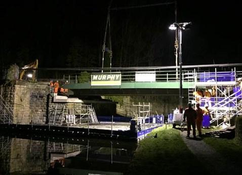 Burnley canal bridge night 2