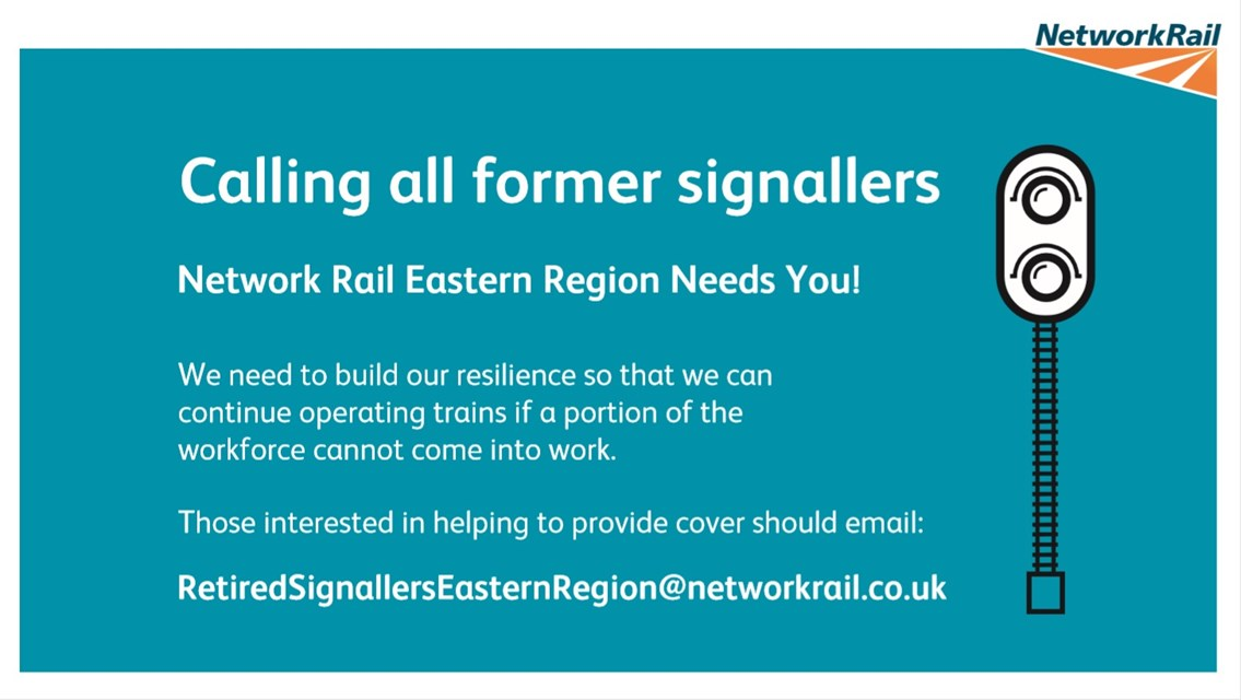 Network Rail appeals for former signallers in the North East to keep vital train services moving: Network Rail appeals for former signallers to keep vital train services moving-3