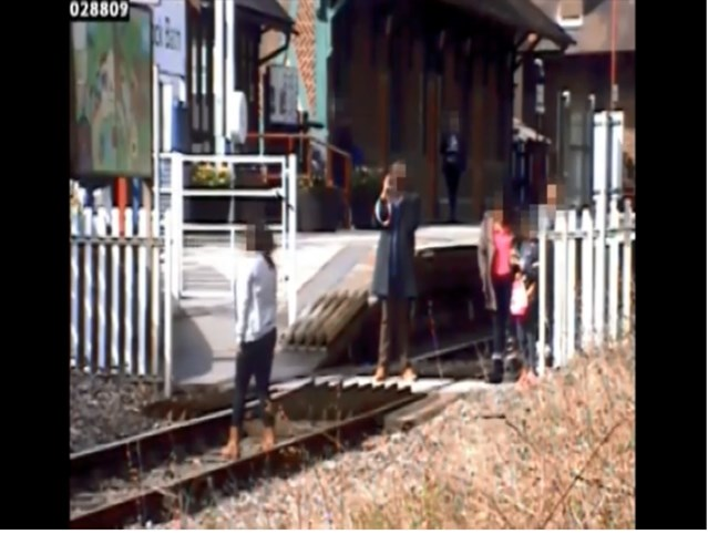 Shocking new CCTV footage released by Network Rail shows reckless behaviour at level crossing in Derbyshire: Shocking new CCTV footage released by Network Rail shows reckless behaviour at level crossing in Derbyshire