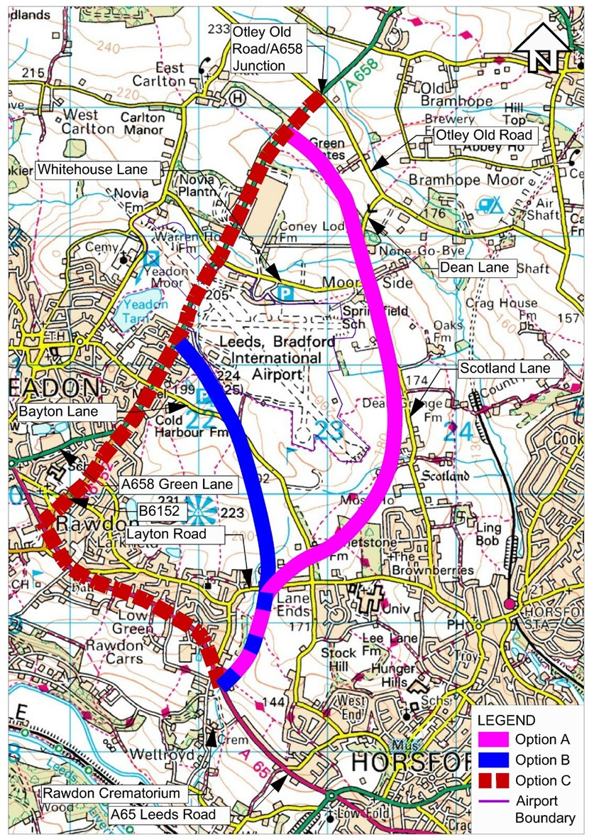 Initial consultation on improving access to Leeds Bradford Airport ends this week: higher-resoptionmapnew.jpg