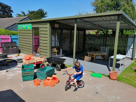 Over £160,000 of grants help Moray's early years partners prepare for expansion: Noah's Ark garden room