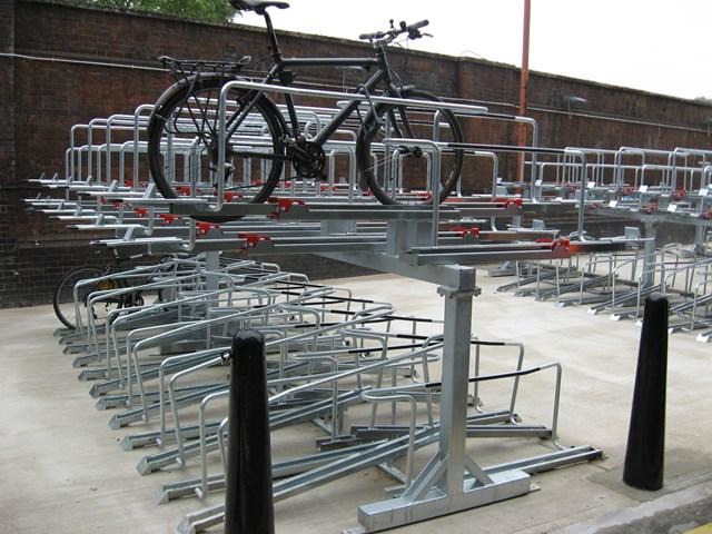 PASSENGERS SEE DOUBLE AT WATERLOO STATION: Waterloo Cycle Racks 1