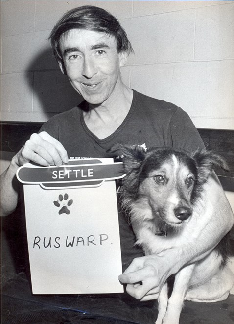 Graham Nuttall and Ruswarp the dog
