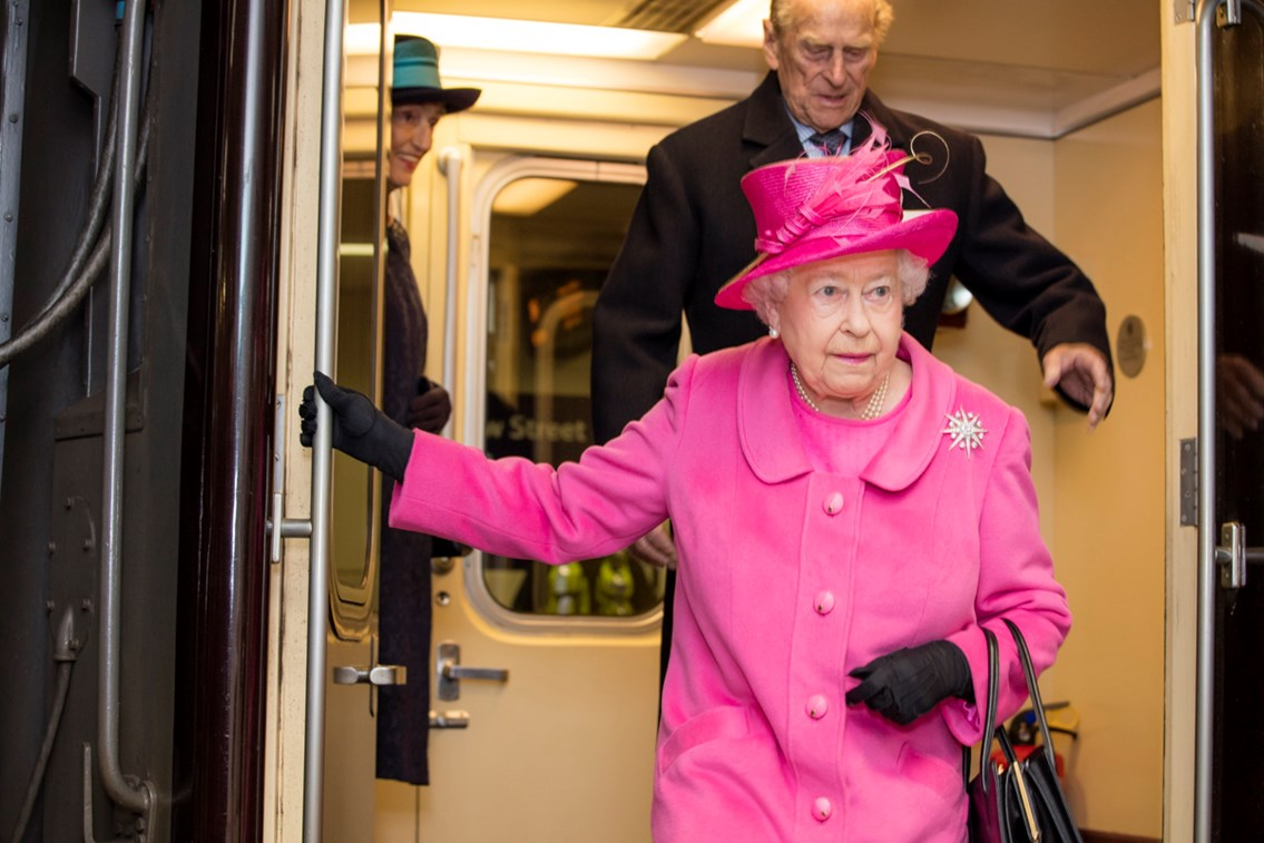 Her Majesty The Queen at Birmingham New Street