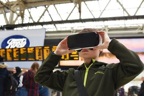 Tomorrow's commuters were able to see what the station of the future will look like
