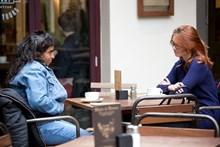 Samaritans Brew Monday - at table, side