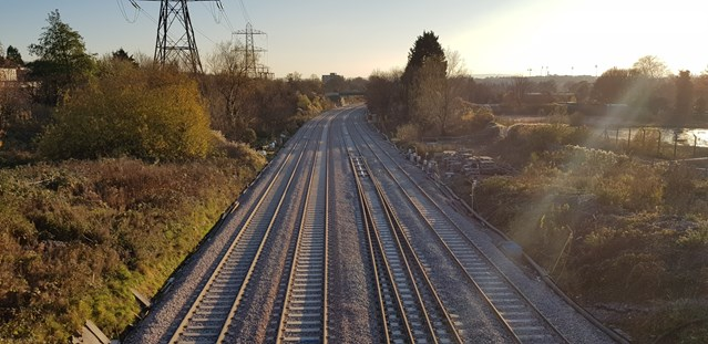 Two new railway lines into Bristol Temple Meads completed to help improve passenger journeys: Filton Four Track Horfield Cutting