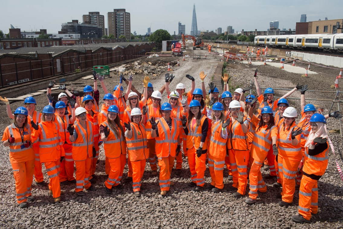 Rail women celebrate Women in Engineering day at site of massive new railway junction: Railway Women in Engineering