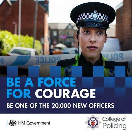 Recruitment of 20,000 new officers: For image re-use please contact the press office before downloading.