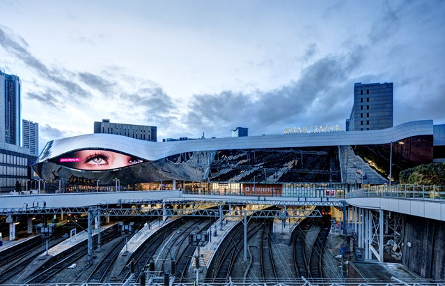 Birmingham New Street station marks one year since its grand reopening: Birmingham New Street and Grand Central - by day