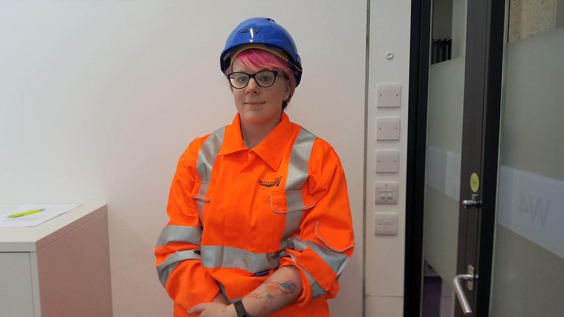 Snowy Worrad is a Network Rail apprentice in Port Talbot