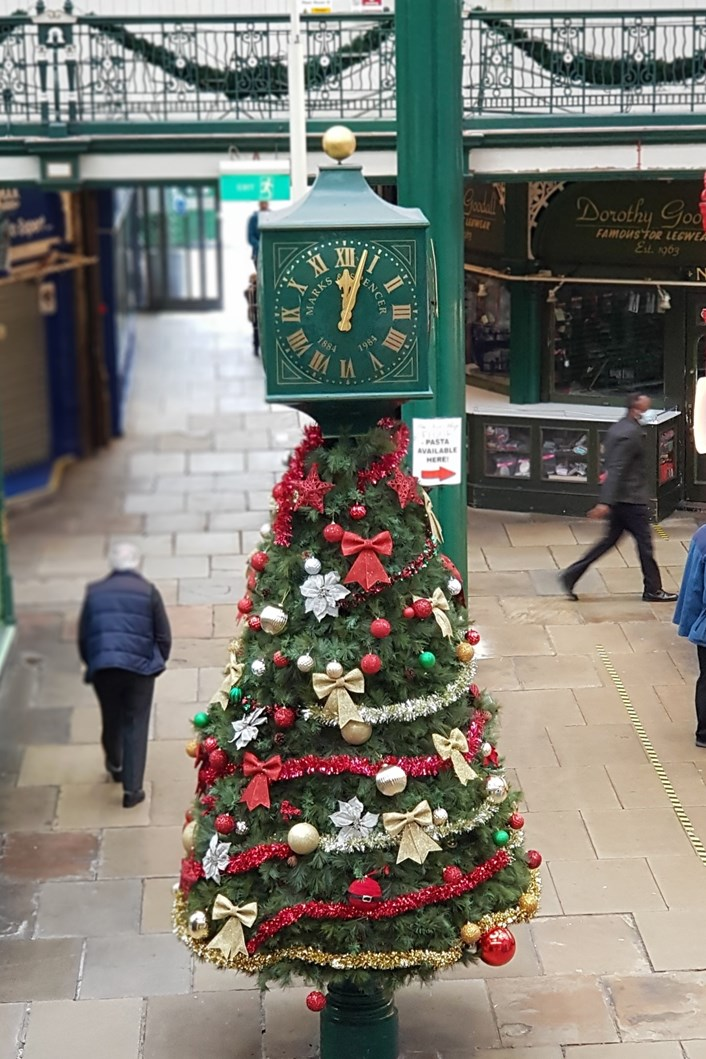 Make it independent and support Leeds Kirkgate Market this Christmas: M&S christmas clock