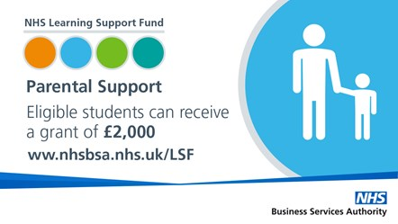 NHS LSF - Tweets (2)-Parental Support: NHS Learning Support Fund Parental Support - Eligible students can receive a grant of £2,000
