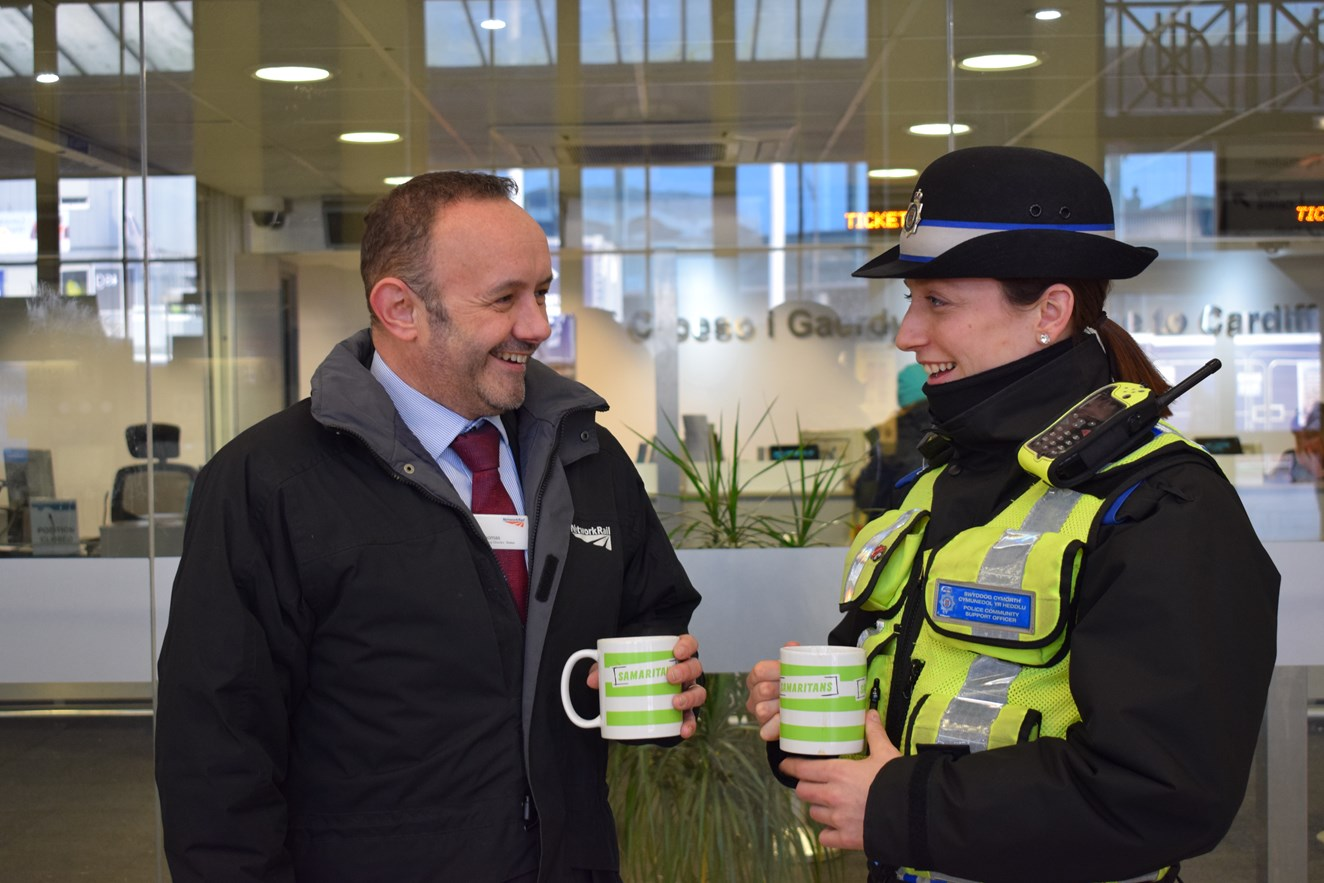 Wales and Borders rail staff support Samaritans to turn 'Blue Monday' around with a cuppa: Rail staff will supporting the Samaritans' Brew Monday campaign