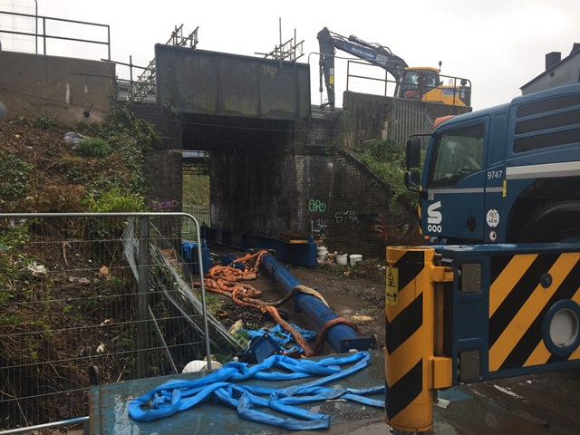 Passengers urged to check before they travel as Storm Hannah causes Stoke bridge replacement delays: Stoke bridge replacement
