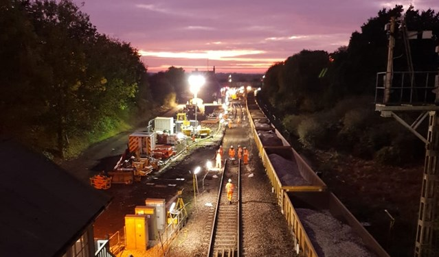 Reedham junction and re-signalling works completed as part of Network Rail's wider Railway Upgrade Plan: NYL Reedham Jct 3