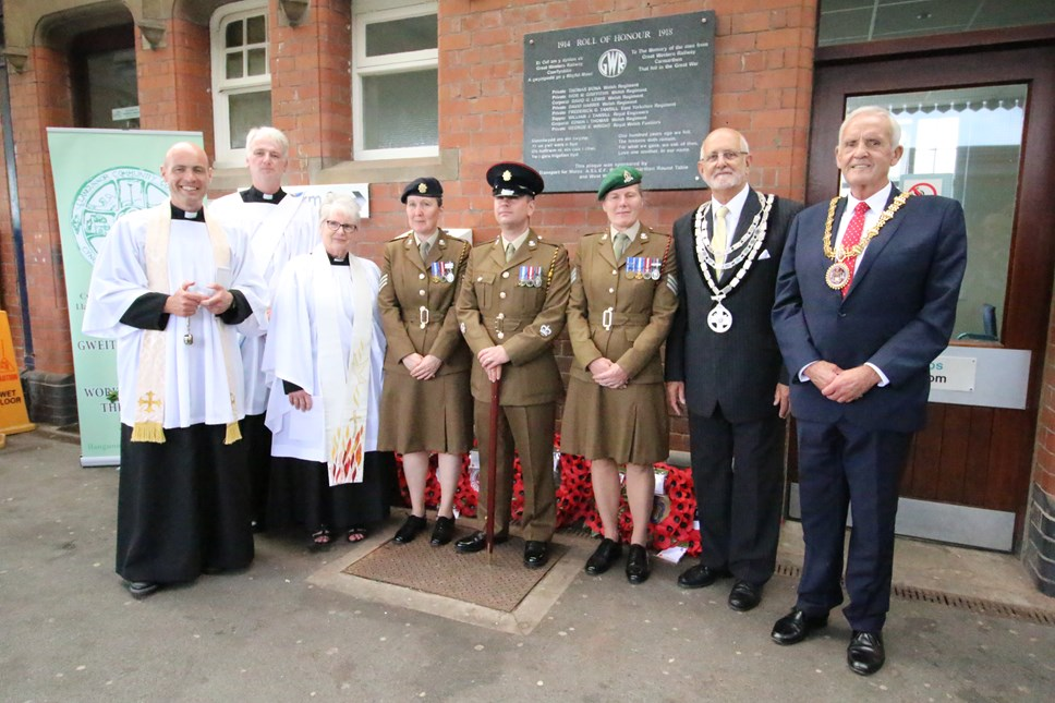 Remembering the fallen; Carmarthen train driver's campaign to honour the railwaymen who died in the Great War: Unveiling of Carmarthen station plaque