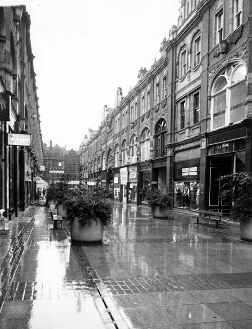 Fast x Slow Fashion online: Images of some of Leeds's busiest shopping areas feature in the exhibition. Credit Leodis.