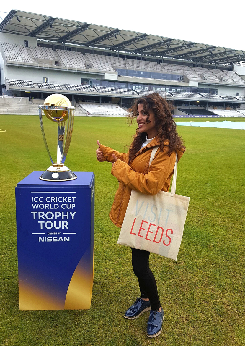 'India's biggest cricket fan' enjoys the delights of Leeds as part of tour of host cities for this year's ICC Cricket World Cup: vanessa1-413939.png