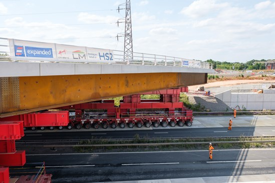 M42 road bridge being moved into position August 2020 #17703